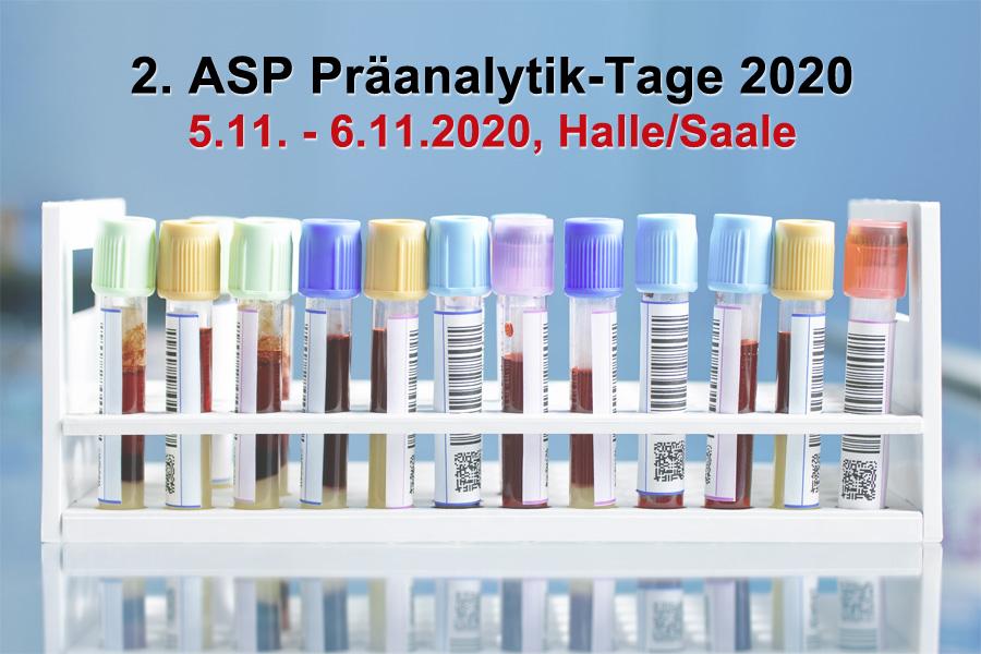 2. ASP-Präanalytik-Tage jetzt am 5. und 6. 11. in Halle/Saale