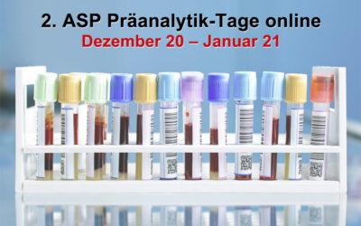 ASP-Präanalytik-Tage online Dezember 20 – Januar 21